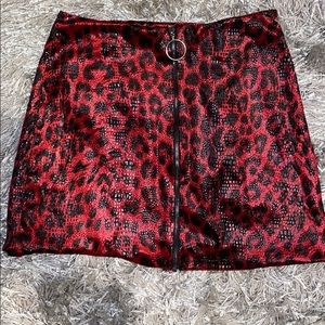 Red cheetah skirt